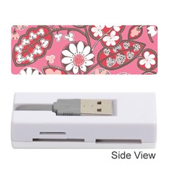 Flower Floral Red Blush Pink Memory Card Reader (stick)  by Alisyart