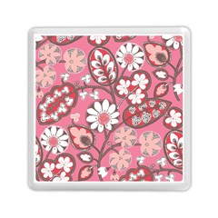 Flower Floral Red Blush Pink Memory Card Reader (square)  by Alisyart