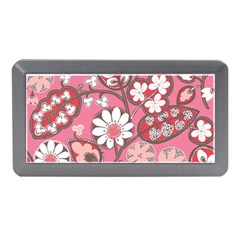 Flower Floral Red Blush Pink Memory Card Reader (mini) by Alisyart