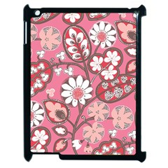 Flower Floral Red Blush Pink Apple Ipad 2 Case (black) by Alisyart