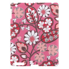 Flower Floral Red Blush Pink Apple Ipad 3/4 Hardshell Case by Alisyart