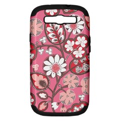 Flower Floral Red Blush Pink Samsung Galaxy S Iii Hardshell Case (pc+silicone) by Alisyart