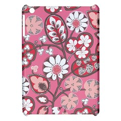 Flower Floral Red Blush Pink Apple Ipad Mini Hardshell Case by Alisyart