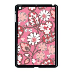 Flower Floral Red Blush Pink Apple Ipad Mini Case (black) by Alisyart