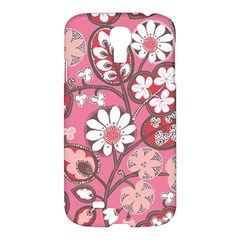 Flower Floral Red Blush Pink Samsung Galaxy S4 I9500/i9505 Hardshell Case by Alisyart