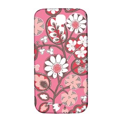 Flower Floral Red Blush Pink Samsung Galaxy S4 I9500/i9505  Hardshell Back Case by Alisyart