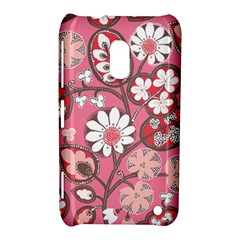 Flower Floral Red Blush Pink Nokia Lumia 620 by Alisyart