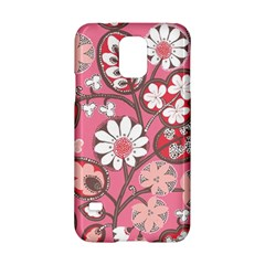 Flower Floral Red Blush Pink Samsung Galaxy S5 Hardshell Case  by Alisyart