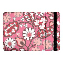Flower Floral Red Blush Pink Samsung Galaxy Tab Pro 10 1  Flip Case by Alisyart