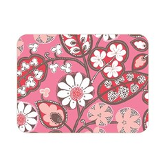 Flower Floral Red Blush Pink Double Sided Flano Blanket (mini)  by Alisyart