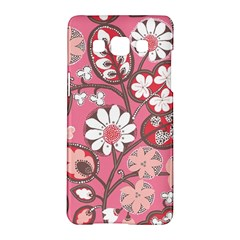 Flower Floral Red Blush Pink Samsung Galaxy A5 Hardshell Case  by Alisyart