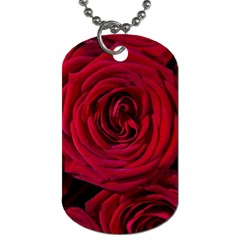 Roses Flowers Red Forest Bloom Dog Tag (one Side) by Amaryn4rt