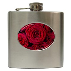 Roses Flowers Red Forest Bloom Hip Flask (6 oz)