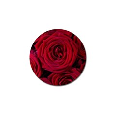 Roses Flowers Red Forest Bloom Golf Ball Marker (4 pack)