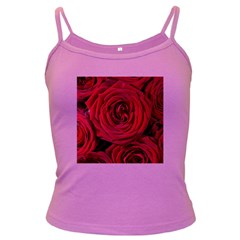 Roses Flowers Red Forest Bloom Dark Spaghetti Tank by Amaryn4rt