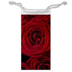 Roses Flowers Red Forest Bloom Jewelry Bag by Amaryn4rt