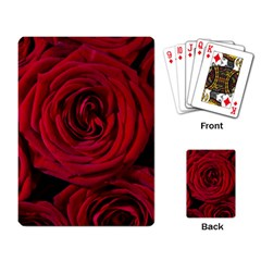 Roses Flowers Red Forest Bloom Playing Card