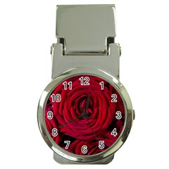 Roses Flowers Red Forest Bloom Money Clip Watches