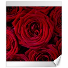 Roses Flowers Red Forest Bloom Canvas 20  x 24