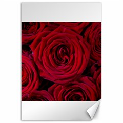 Roses Flowers Red Forest Bloom Canvas 20  x 30
