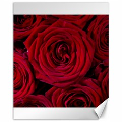 Roses Flowers Red Forest Bloom Canvas 11  X 14   by Amaryn4rt