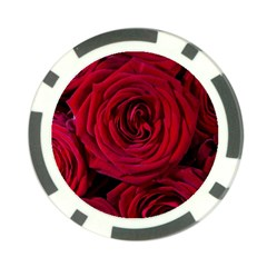 Roses Flowers Red Forest Bloom Poker Chip Card Guard (10 pack)