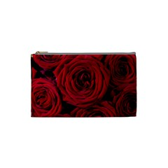 Roses Flowers Red Forest Bloom Cosmetic Bag (Small)