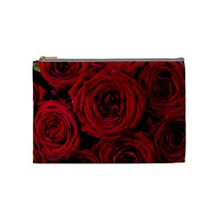 Roses Flowers Red Forest Bloom Cosmetic Bag (medium)  by Amaryn4rt