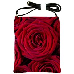 Roses Flowers Red Forest Bloom Shoulder Sling Bags by Amaryn4rt