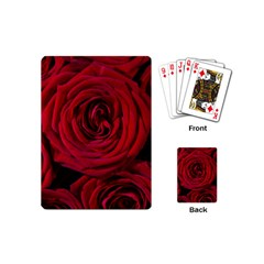 Roses Flowers Red Forest Bloom Playing Cards (mini)  by Amaryn4rt