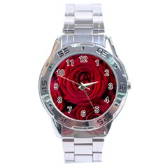 Roses Flowers Red Forest Bloom Stainless Steel Analogue Watch by Amaryn4rt