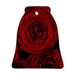 Roses Flowers Red Forest Bloom Ornament (bell) by Amaryn4rt