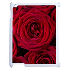 Roses Flowers Red Forest Bloom Apple Ipad 2 Case (white) by Amaryn4rt