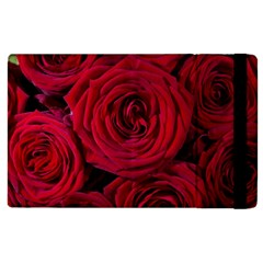 Roses Flowers Red Forest Bloom Apple Ipad 3/4 Flip Case by Amaryn4rt