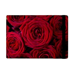 Roses Flowers Red Forest Bloom Apple Ipad Mini Flip Case by Amaryn4rt