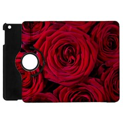 Roses Flowers Red Forest Bloom Apple Ipad Mini Flip 360 Case by Amaryn4rt