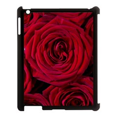 Roses Flowers Red Forest Bloom Apple Ipad 3/4 Case (black) by Amaryn4rt