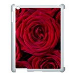 Roses Flowers Red Forest Bloom Apple iPad 3/4 Case (White)