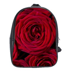 Roses Flowers Red Forest Bloom School Bags (xl)  by Amaryn4rt