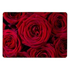 Roses Flowers Red Forest Bloom Samsung Galaxy Tab 10 1  P7500 Flip Case by Amaryn4rt