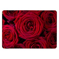 Roses Flowers Red Forest Bloom Samsung Galaxy Tab 8 9  P7300 Flip Case by Amaryn4rt