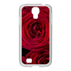 Roses Flowers Red Forest Bloom Samsung Galaxy S4 I9500/ I9505 Case (white) by Amaryn4rt