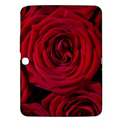 Roses Flowers Red Forest Bloom Samsung Galaxy Tab 3 (10 1 ) P5200 Hardshell Case  by Amaryn4rt