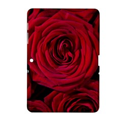 Roses Flowers Red Forest Bloom Samsung Galaxy Tab 2 (10 1 ) P5100 Hardshell Case  by Amaryn4rt
