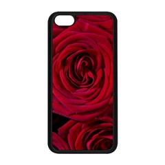 Roses Flowers Red Forest Bloom Apple Iphone 5c Seamless Case (black) by Amaryn4rt