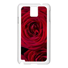 Roses Flowers Red Forest Bloom Samsung Galaxy Note 3 N9005 Case (white) by Amaryn4rt