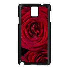 Roses Flowers Red Forest Bloom Samsung Galaxy Note 3 N9005 Case (Black)
