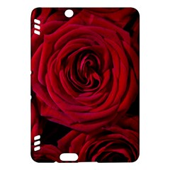 Roses Flowers Red Forest Bloom Kindle Fire Hdx Hardshell Case by Amaryn4rt