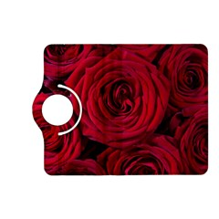 Roses Flowers Red Forest Bloom Kindle Fire Hd (2013) Flip 360 Case by Amaryn4rt