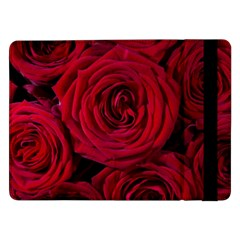 Roses Flowers Red Forest Bloom Samsung Galaxy Tab Pro 12 2  Flip Case by Amaryn4rt